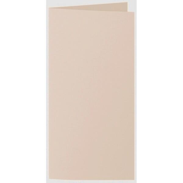 Artoz 1001 - 'Apricot' Card. 210mm x 210mm 220gsm DL Bi-Fold (Long Edge) Card.