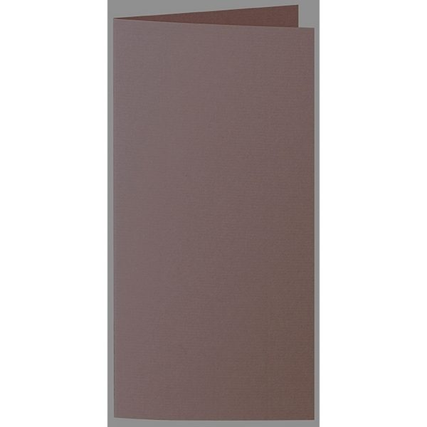 Artoz 1001 - 'Brown' Card. 210mm x 210mm 220gsm DL Bi-Fold (Long Edge) Card.