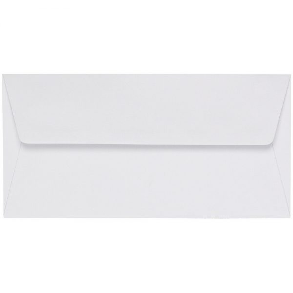 Artoz 1001 - 'Blossom White' Envelope. 220mm x 110mm 100gsm DL Peel/Seal Lined Envelope.