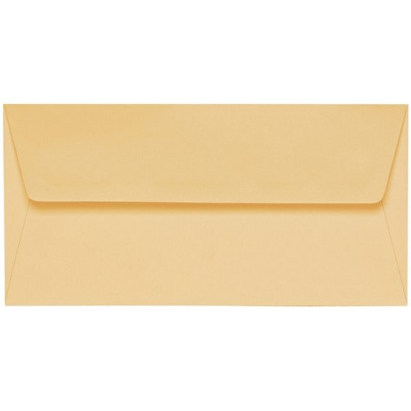 Artoz 1001 - 'Honey Yellow' Envelope. 220mm x 110mm 100gsm DL Peel/Seal Lined Envelope.