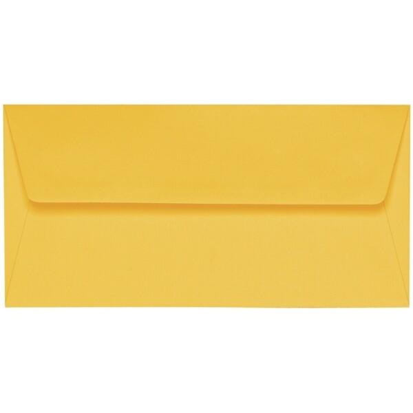 Artoz 1001 - 'Sun Yellow' Envelope. 220mm x 110mm 100gsm DL Peel/Seal Lined Envelope.