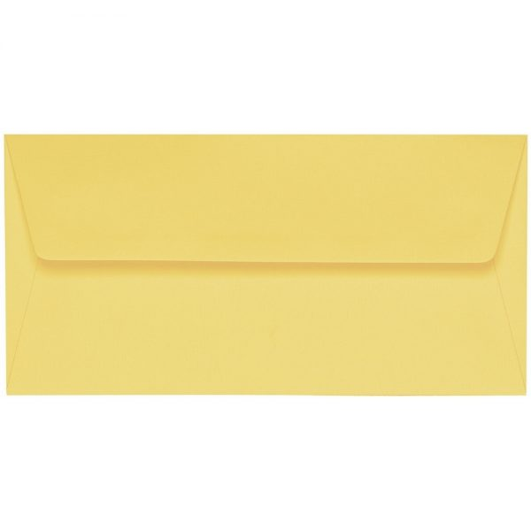 Artoz 1001 - 'Citro' Envelope. 220mm x 110mm 100gsm DL Peel/Seal Lined Envelope.