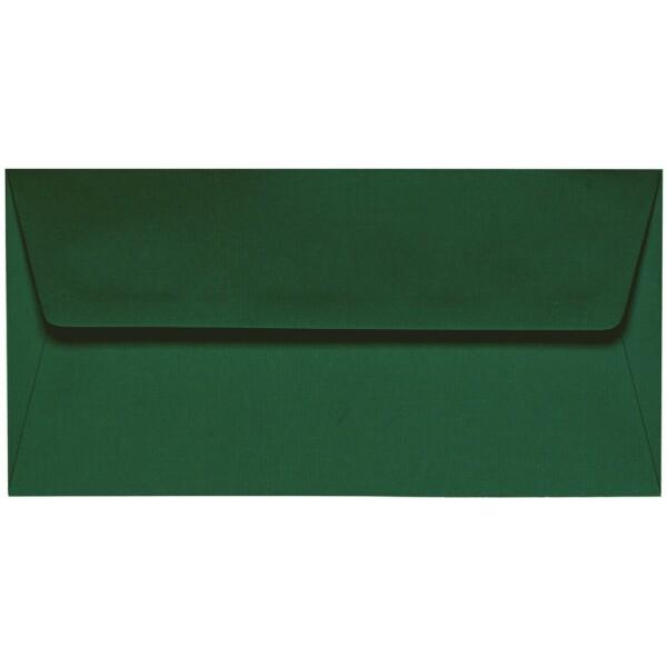 Artoz 1001 - 'Racing Green' Envelope. 220mm x 110mm 100gsm DL Peel/Seal Lined Envelope.