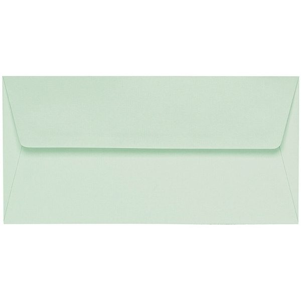 Artoz 1001 - 'Pale Mint' Envelope. 220mm x 110mm 100gsm DL Peel/Seal Lined Envelope.