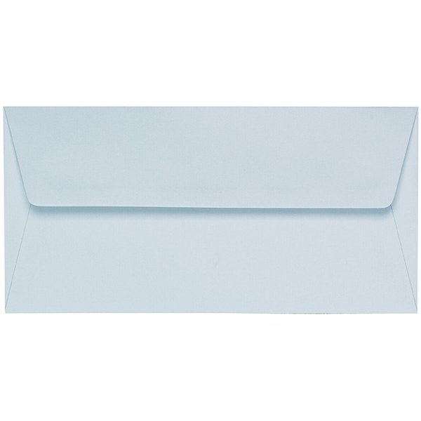 Artoz 1001 - 'Sky Blue' Envelope. 220mm x 110mm 100gsm DL Peel/Seal Lined Envelope.