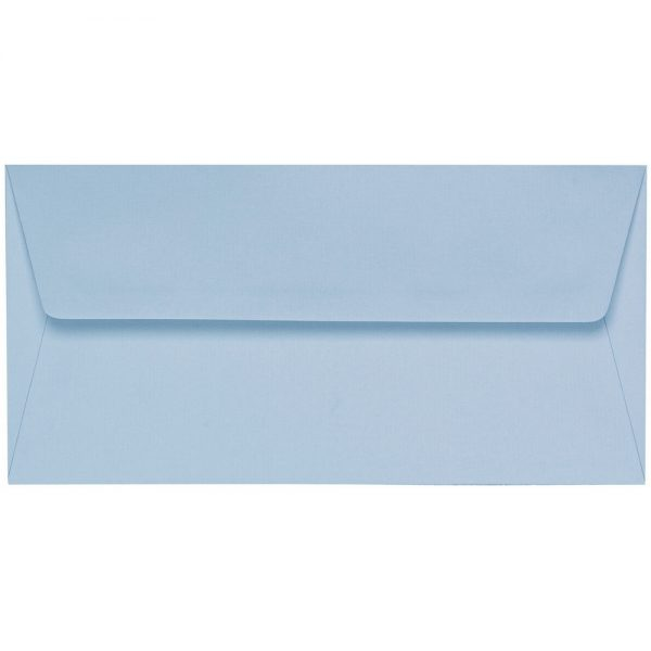 Artoz 1001 - 'Pastel Blue' Envelope. 220mm x 110mm 100gsm DL Peel/Seal Lined Envelope.