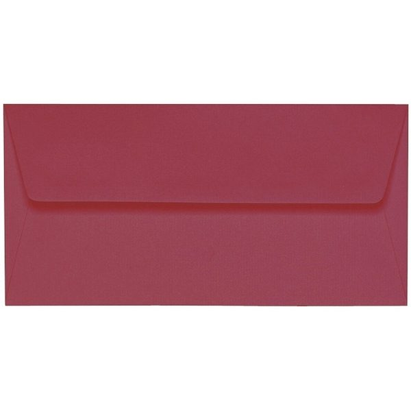 Artoz 1001 - 'Purple Red' Envelope. 220mm x 110mm 100gsm DL Peel/Seal Lined Envelope.