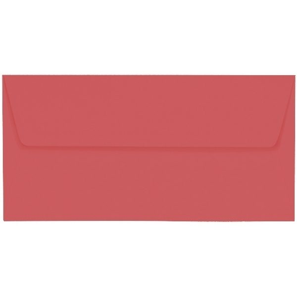 Artoz 1001 - 'Watermelon' Envelope. 220mm x 110mm 100gsm DL Peel/Seal Lined Envelope.