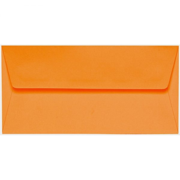Artoz 1001 - 'Orange' Envelope. 220mm x 110mm 100gsm DL Peel/Seal Lined Envelope.