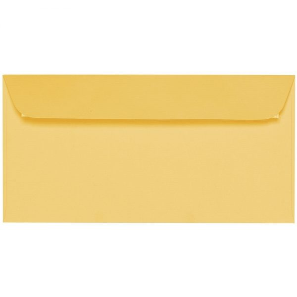 Artoz 1001 - 'Light Yellow' Envelope. 224mm x 114mm 100gsm DL Peel/Seal Envelope.