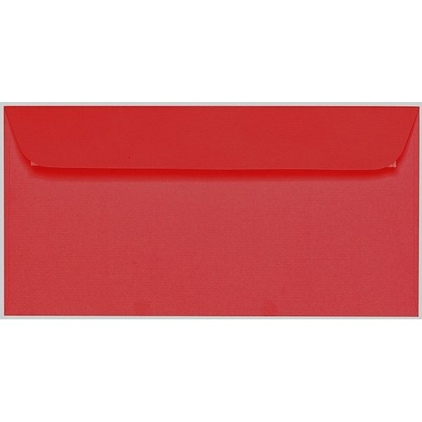 Artoz 1001 - 'Red' Envelope. 224mm x 114mm 100gsm DL Peel/Seal Envelope.