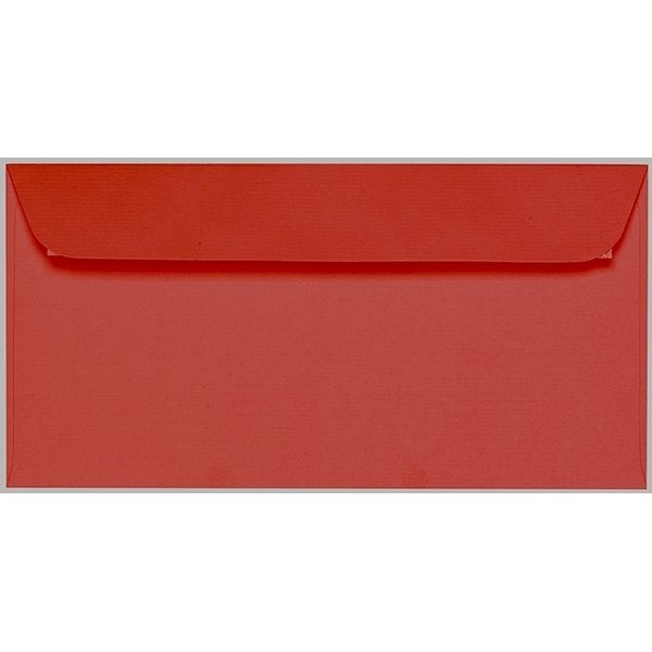 Artoz 1001 - 'Fire Red' Envelope. 224mm x 114mm 100gsm DL Peel/Seal Envelope.