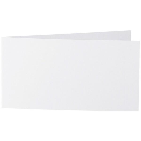 Artoz 1001 - 'Blossom White' Card. 420mm x 105mm 220gsm DL Bi-Fold (Short Edge) Card.