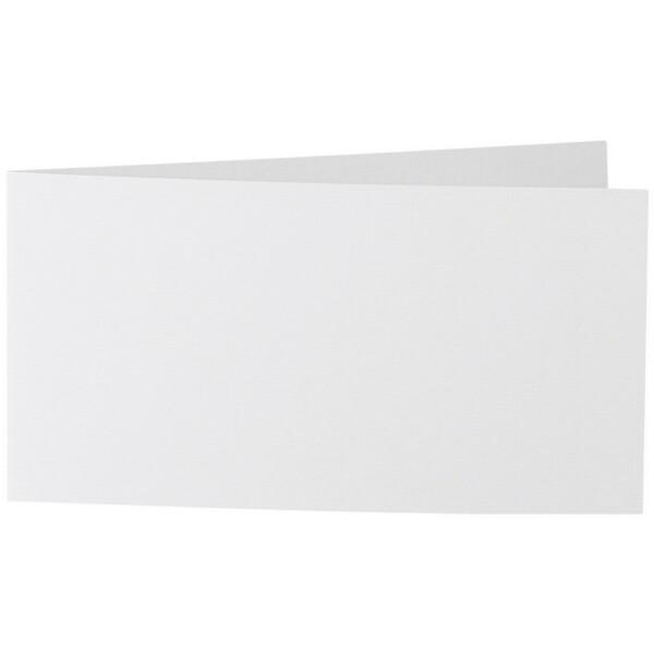Artoz 1001 - 'Bianco White' Card. 420mm x 105mm 220gsm DL Bi-Fold (Short Edge) Card.