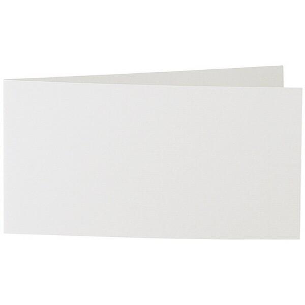 Artoz 1001 - 'Silver Grey' Card. 420mm x 105mm 220gsm DL Bi-Fold (Short Edge) Card.