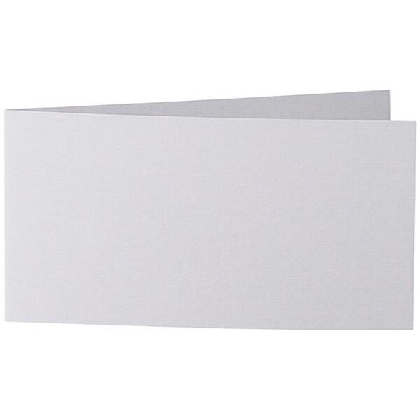 Artoz 1001 - 'Light Grey' Card. 420mm x 105mm 220gsm DL Bi-Fold (Short Edge) Card.