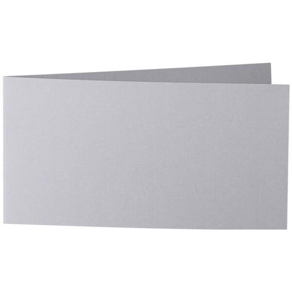 Artoz 1001 - 'Graphite' Card. 420mm x 105mm 220gsm DL Bi-Fold (Short Edge) Card.
