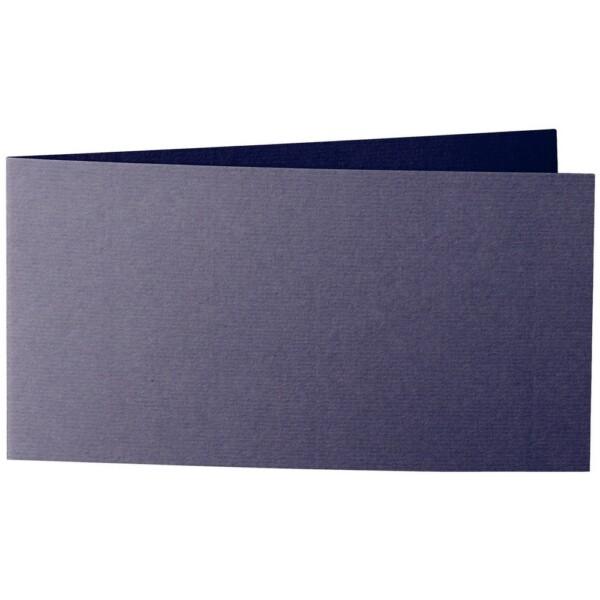 Artoz 1001 - 'Jet Black' Card. 420mm x 105mm 220gsm DL Bi-Fold (Short Edge) Card.