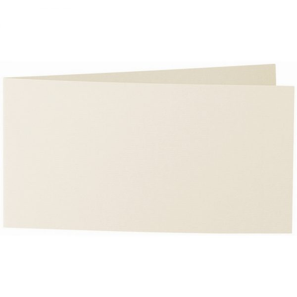 Artoz 1001 - 'Chamois' Card. 420mm x 105mm 220gsm DL Bi-Fold (Short Edge) Card.