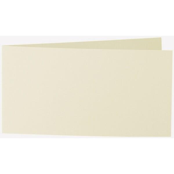 Artoz 1001 - 'Crema' Card. 420mm x 105mm 220gsm DL Bi-Fold (Short Edge) Card.