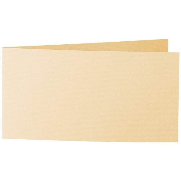 Artoz 1001 - 'Honey Yellow' Card. 420mm x 105mm 220gsm DL Bi-Fold (Short Edge) Card.
