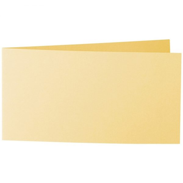 Artoz 1001 - 'Light Yellow' Card. 420mm x 105mm 220gsm DL Bi-Fold (Short Edge) Card.
