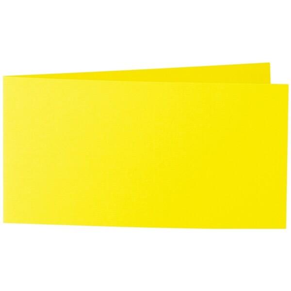 Artoz 1001 - 'Corn Yellow' Card. 420mm x 105mm 220gsm DL Bi-Fold (Short Edge) Card.