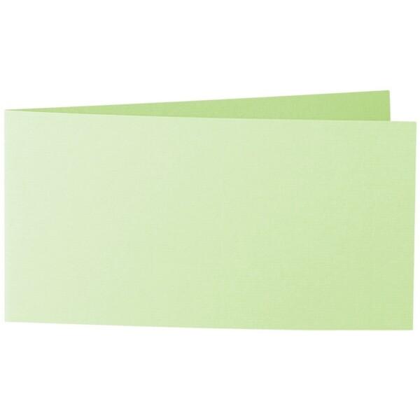 Artoz 1001 - 'Birchtree Green' Card. 420mm x 105mm 220gsm DL Bi-Fold (Short Edge) Card.