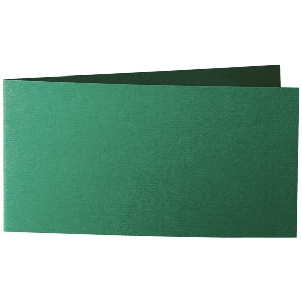 Artoz 1001 - 'Racing Green' Card. 420mm x 105mm 220gsm DL Bi-Fold (Short Edge) Card.