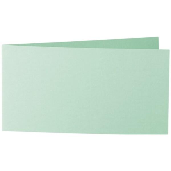 Artoz 1001 - 'Pale Mint' Card. 420mm x 105mm 220gsm DL Bi-Fold (Short Edge) Card.