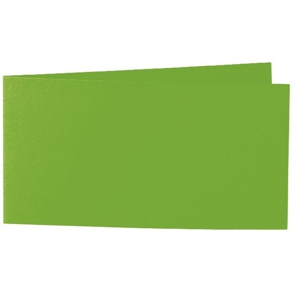 Artoz 1001 - 'Pea Green' Card. 420mm x 105mm 220gsm DL Bi-Fold (Short Edge) Card.