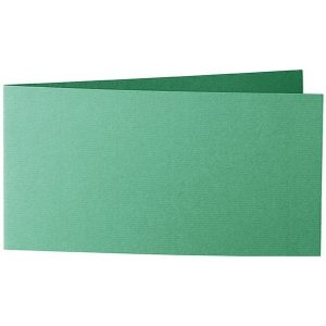 Artoz 1001 - 'Firtree Green' Card. 420mm x 105mm 220gsm DL Bi-Fold (Short Edge) Card.