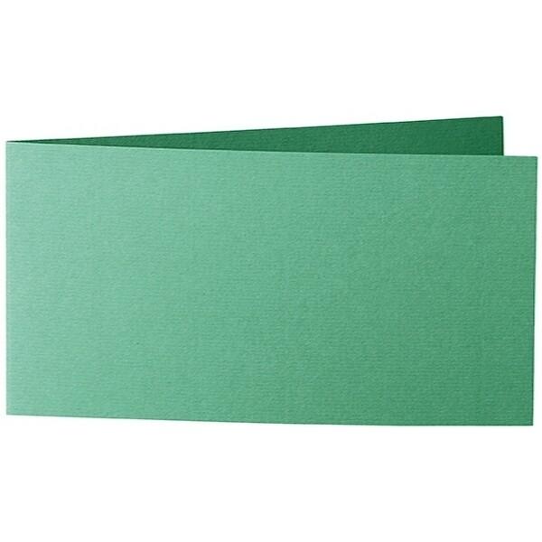 Artoz 1001 - 'Firtree Green' Card. 420mm x 105mm 220gsm DL Bi-Fold (Short Edge) Card.