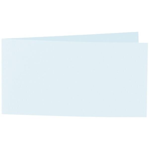 Artoz 1001 - 'Light Blue' Card. 420mm x 105mm 220gsm DL Bi-Fold (Short Edge) Card.