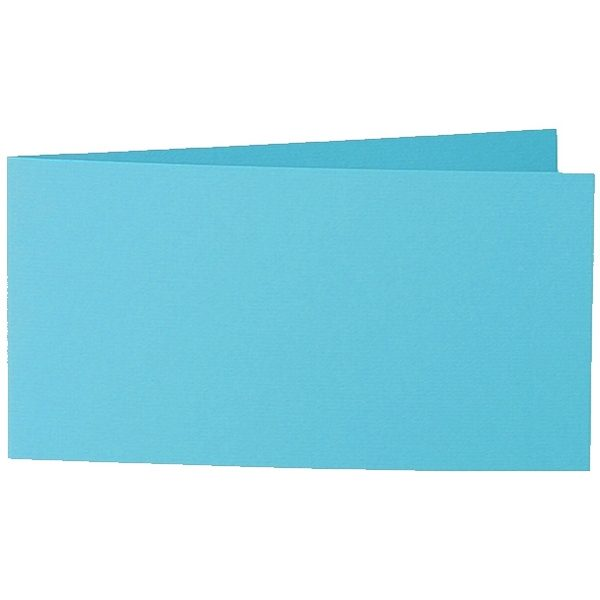 Artoz 1001 - 'Turquoise' Card. 420mm x 105mm 220gsm DL Bi-Fold (Short Edge) Card.