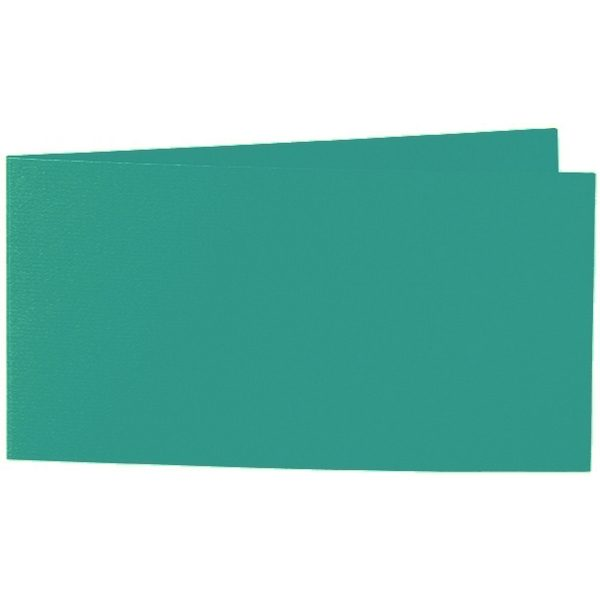 Artoz 1001 - 'Tropical Green' Card. 420mm x 105mm 220gsm DL Bi-Fold (Short Edge) Card.