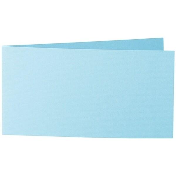 Artoz 1001 - 'Azure Blue' Card. 420mm x 105mm 220gsm DL Bi-Fold (Short Edge) Card.