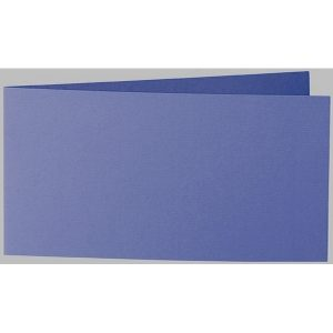 Artoz 1001 - 'Indigo' Card. 420mm x 105mm 220gsm DL Bi-Fold (Short Edge) Card.