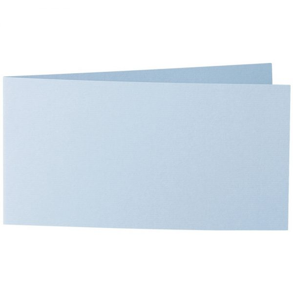Artoz 1001 - 'Pastel Blue' Card. 420mm x 105mm 220gsm DL Bi-Fold (Short Edge) Card.