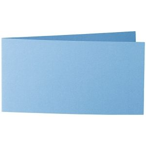 Artoz 1001 - 'Marine Blue' Card. 420mm x 105mm 220gsm DL Bi-Fold (Short Edge) Card.