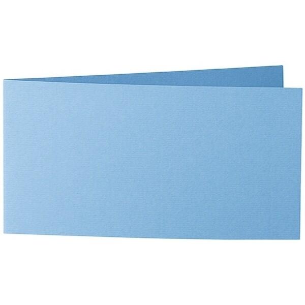 Artoz 1001 - 'Marine Blue' Card. 420mm x 105mm 220gsm DL Bi-Fold (Short Edge) Card.