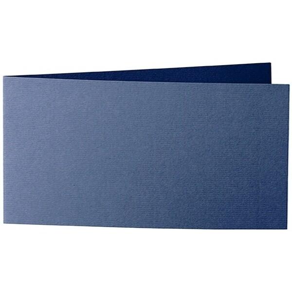Artoz 1001 - 'Classic Blue' Card. 420mm x 105mm 220gsm DL Bi-Fold (Short Edge) Card.
