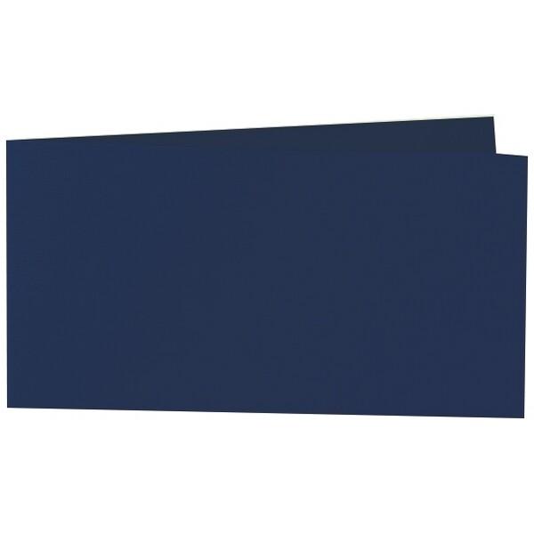 Artoz 1001 - 'Navy Blue' Card. 420mm x 105mm 220gsm DL Bi-Fold (Short Edge) Card.