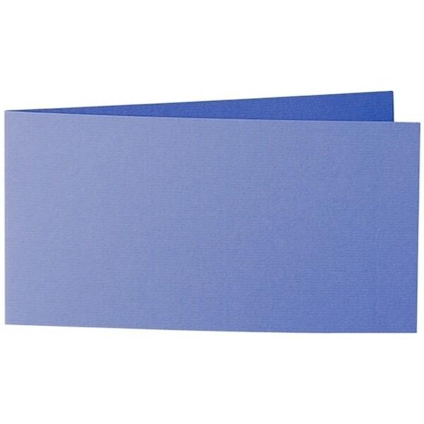 Artoz 1001 - 'Majestic Blue' Card. 420mm x 105mm 220gsm DL Bi-Fold (Short Edge) Card.