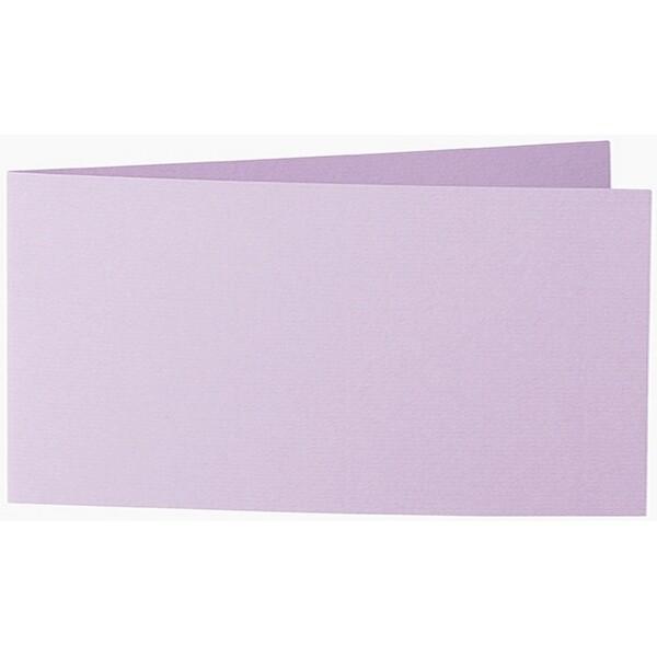 Artoz 1001 - 'Lilac' Card. 420mm x 105mm 220gsm DL Bi-Fold (Short Edge) Card.