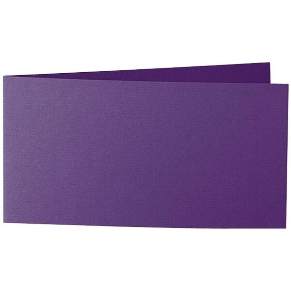 Artoz 1001 - 'Violet' Card. 420mm x 105mm 220gsm DL Bi-Fold (Short Edge) Card.
