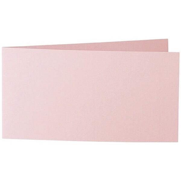 Artoz 1001 - 'Pink' Card. 420mm x 105mm 220gsm DL Bi-Fold (Short Edge) Card.