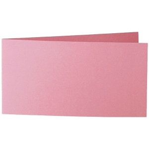 Artoz 1001 - 'Coral' Card. 420mm x 105mm 220gsm DL Bi-Fold (Short Edge) Card.