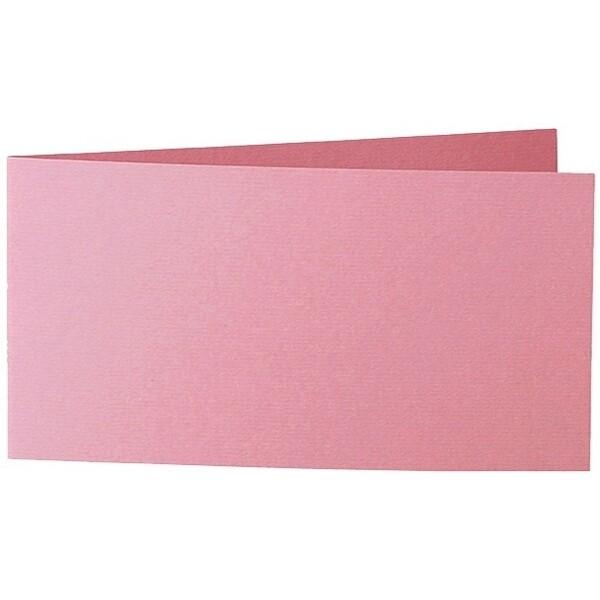 Artoz 1001 - 'Coral' Card. 420mm x 105mm 220gsm DL Bi-Fold (Short Edge) Card.