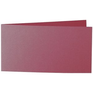 Artoz 1001 - 'Purple Red' Card. 420mm x 105mm 220gsm DL Bi-Fold (Short Edge) Card.